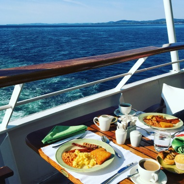 Breakfast with a view - onboard Aegean Odyssey